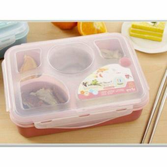 Harga preferensial Yooyee Lunch Box / Tempat Makan / Kotak Makan Bento Sup Sekat 5 - #393 beli sekarang - Hanya Rp36.920