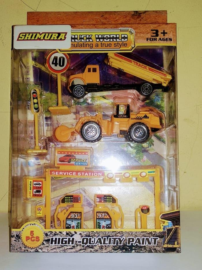 Mainan Anak Diecast Vehicle Construction - Truck World 4