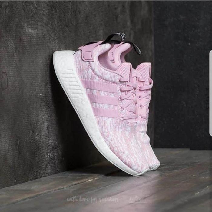 Adidas NMD R2 Mesh  Wonder Pink  Premium Original / sepatu olahraga - FZc1jk
