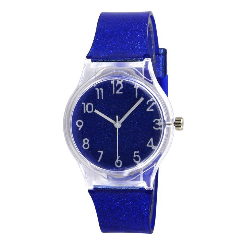 Ladies Fashion Watch Silicone Jelly Glitter GNV900 - Jam Tangan Wanita