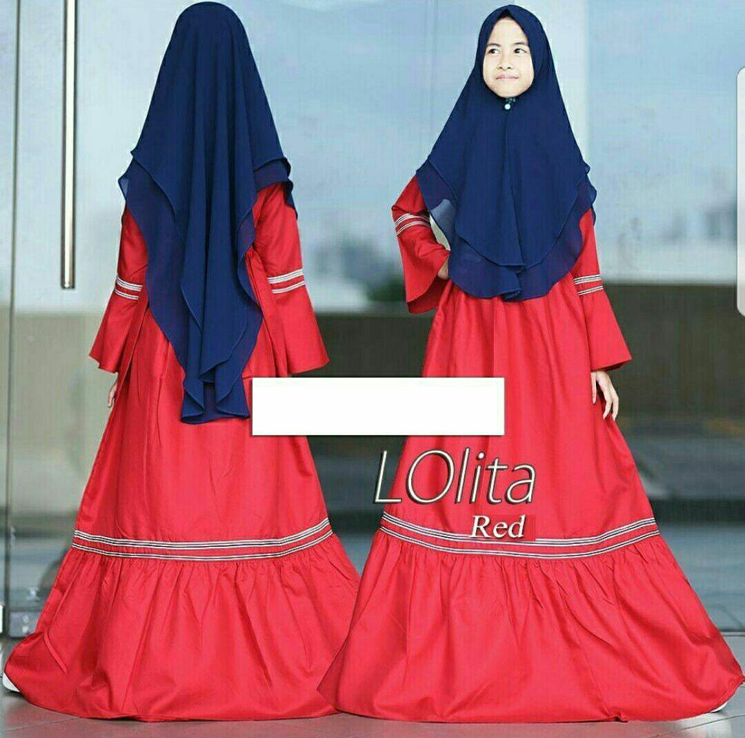 Baju Muslim Anak / Gamis Syari Anak Perempuan / Free Jilbab / Lolita Kid