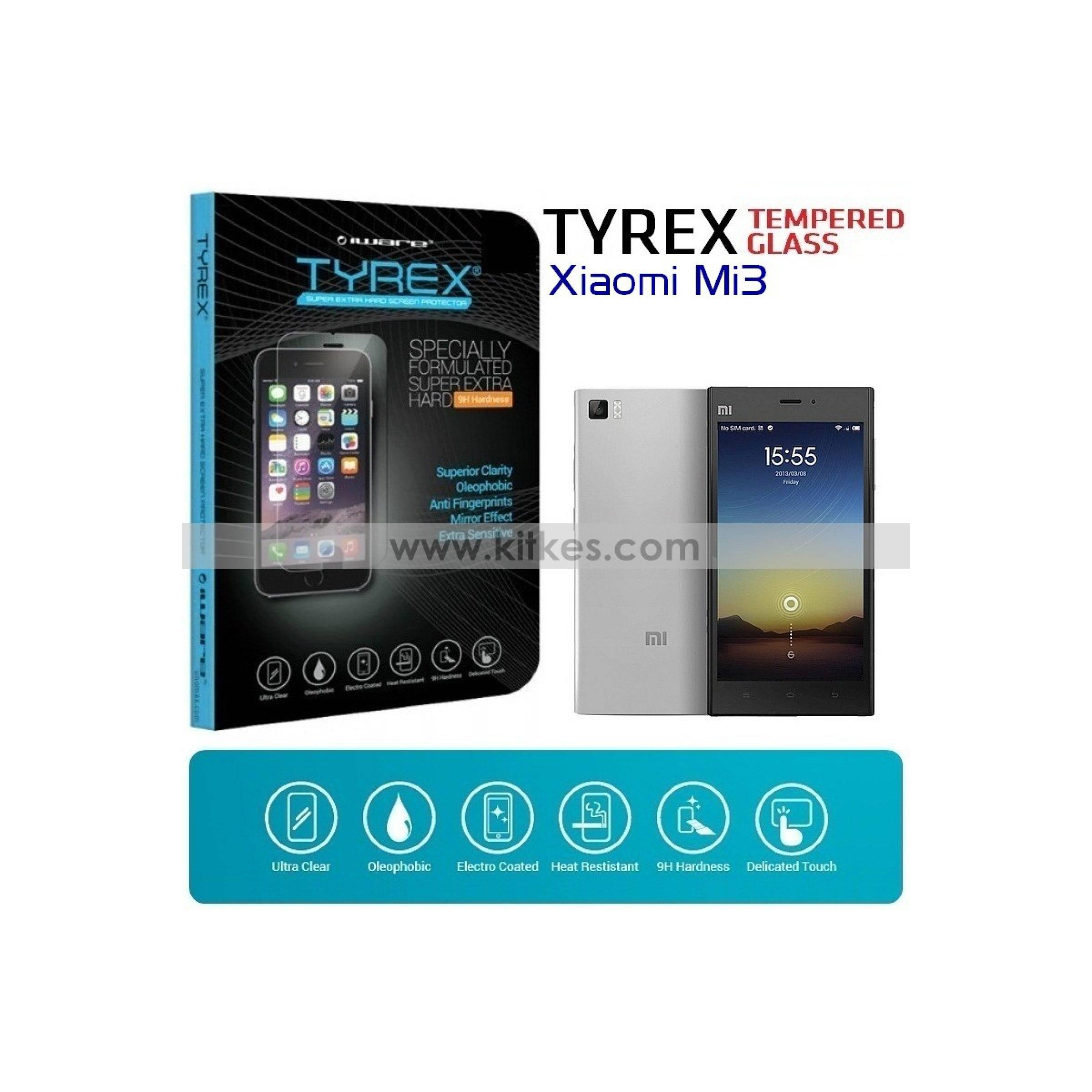 TYREX Tempered Glass For Xiaomi Mi4 Screen Protector PelinduIDR Rp 318 400