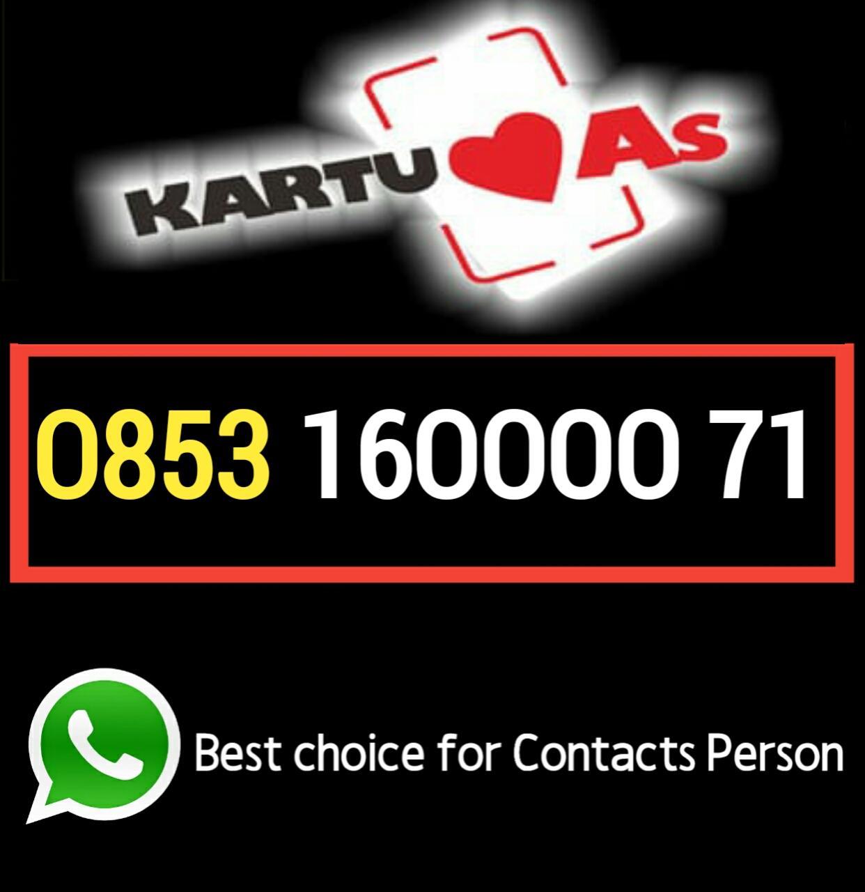Nomor cantik 0853 160000 71 kartu perdana as Telkomsel