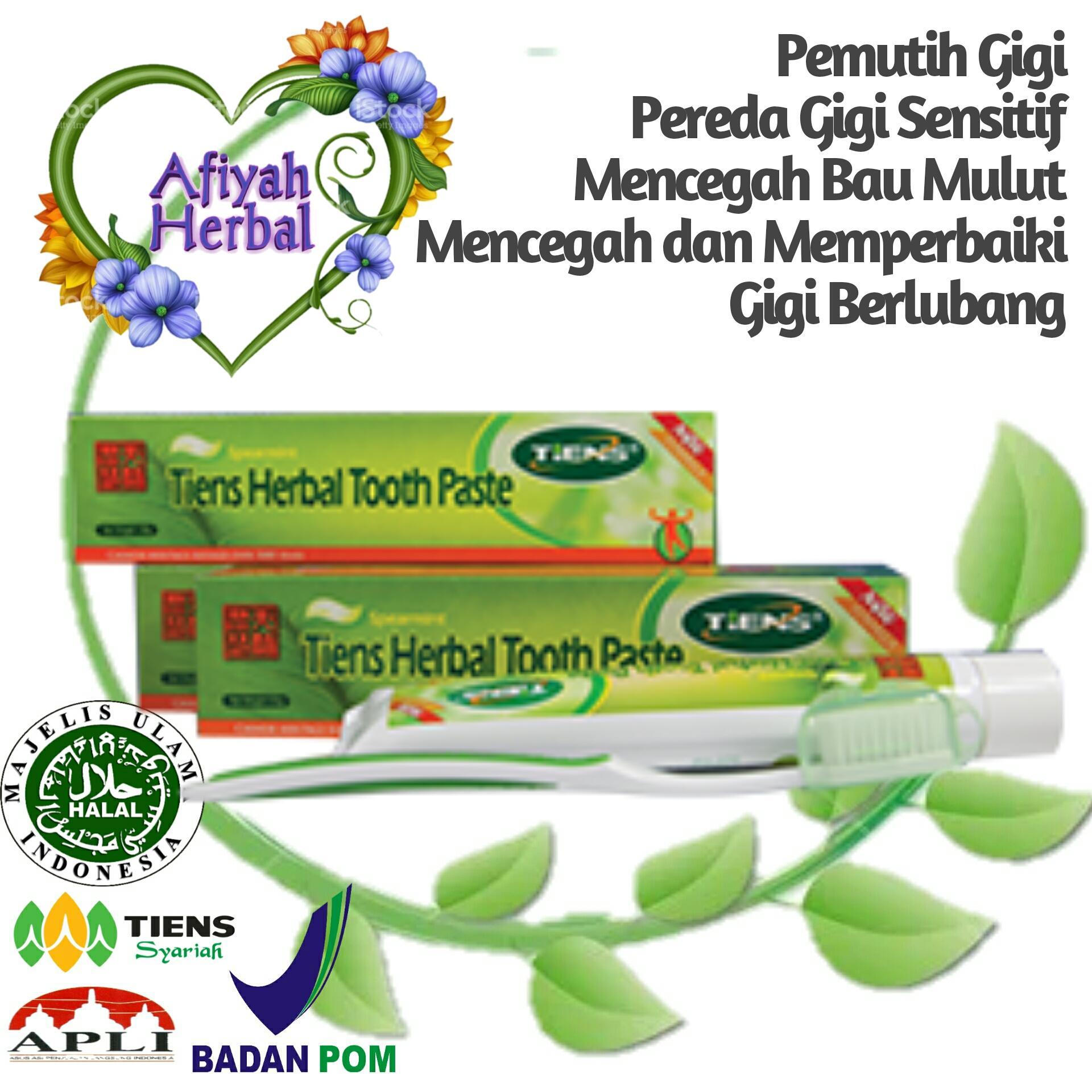 Tiens Herbal Toothpaste Pasta Gigi / Odol / Pemutih Gigi / Mencegah dan Memperbaiki Gigi Berlubang