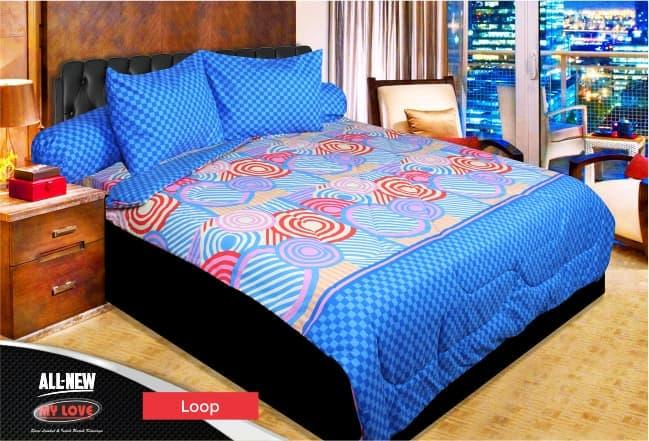 BEDCOVER SET MY LOVE LOOP No.1 KING 180 T30 BCS RING PANAH KOTAK CATUR Exclusive