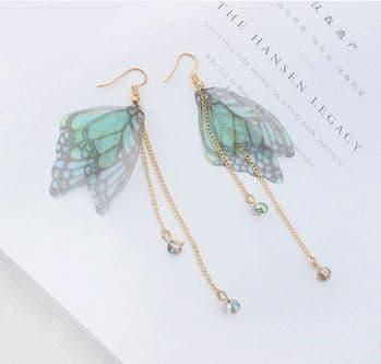 PROMO SAAT INI anting panjang fashion korea dangling earring butterfly wing jan125 TERLARIS
