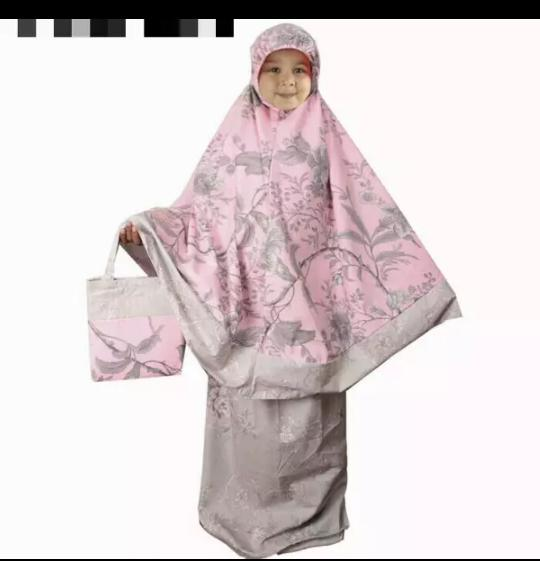 BEST SELLER !!!Mukena Anak katun Jepang Bella rosa merah RH