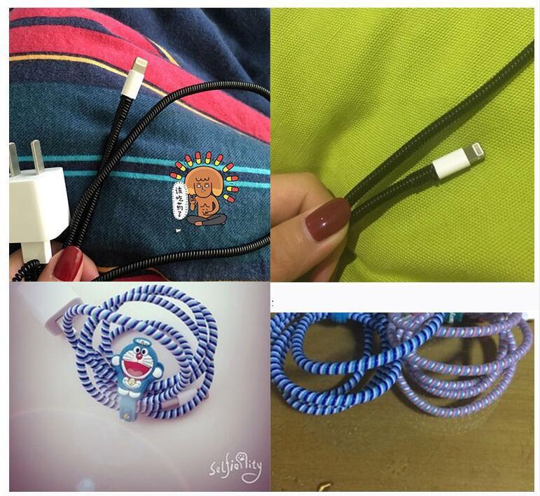 MR Pelindung Kabel Spiral kabel protektor cord protector charger kabel spiral 1 warna - Random