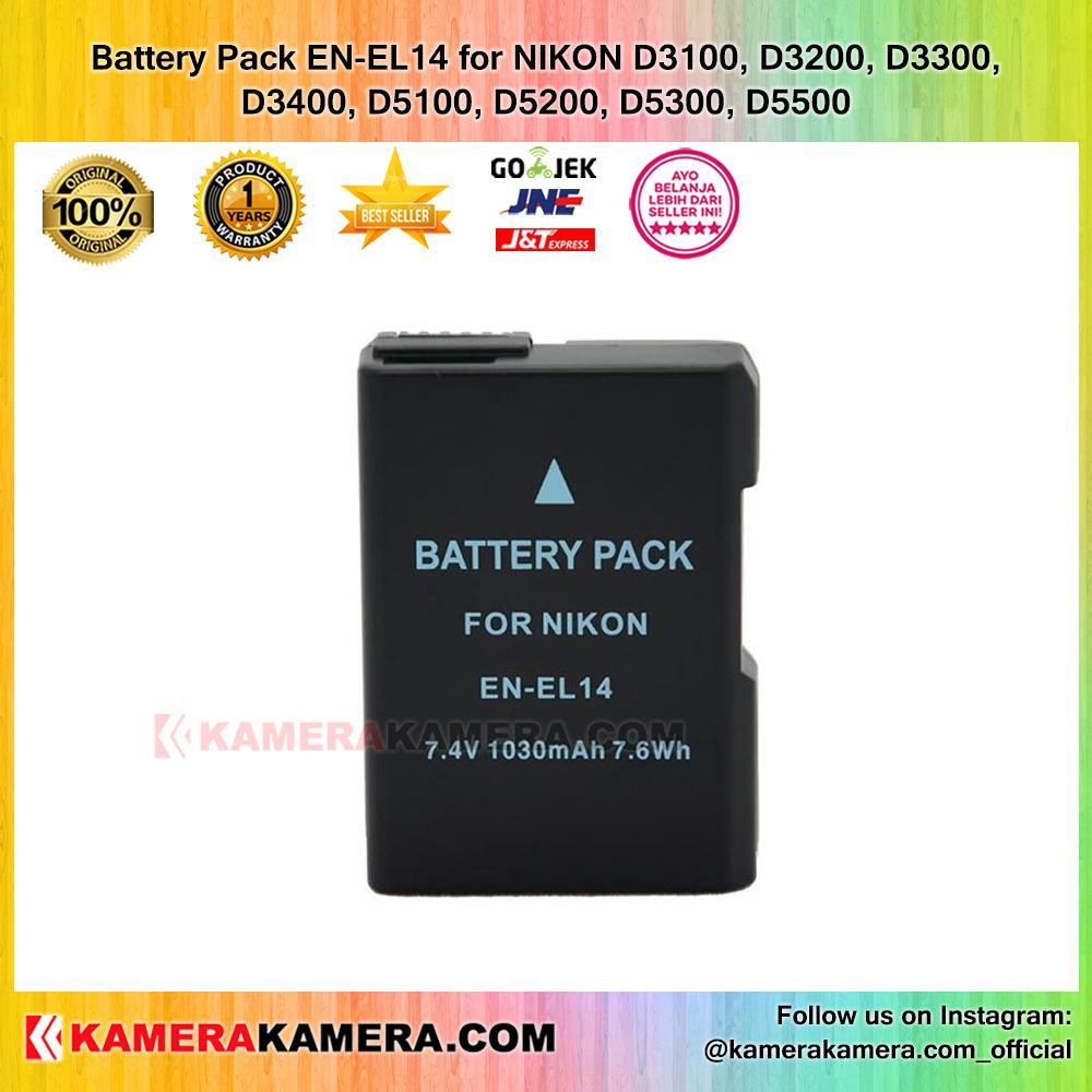 Jual Baterai Kamera Terlengkap Termurah Battery Batre Canon Lp E8 Untuk Tipe Eos 550d 600d 700d Pack En El14 For Nikon D3100 D3200 D3300 D3400 D5100