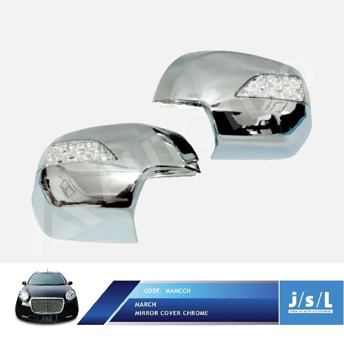 Nissan March Cover Spion JSL/Mirror Cover Chrome with Lamp