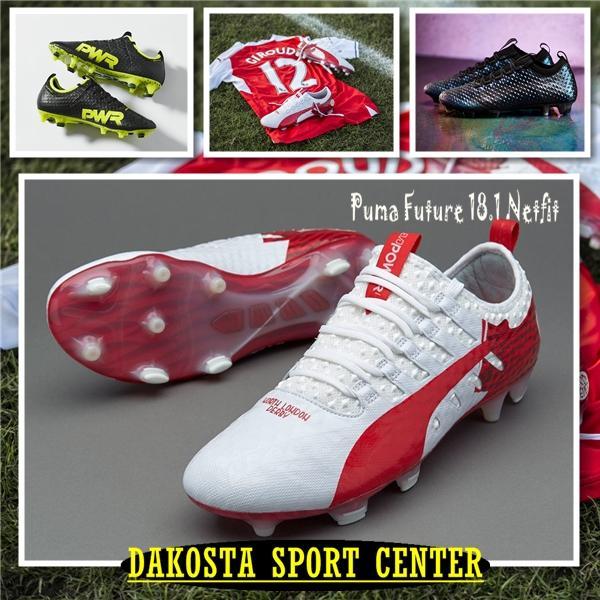 SEPATU BOLA - Soccer Puma evoPOWER Vigor 1 Derby Fever Pack, Black Green, Accufoam 3D