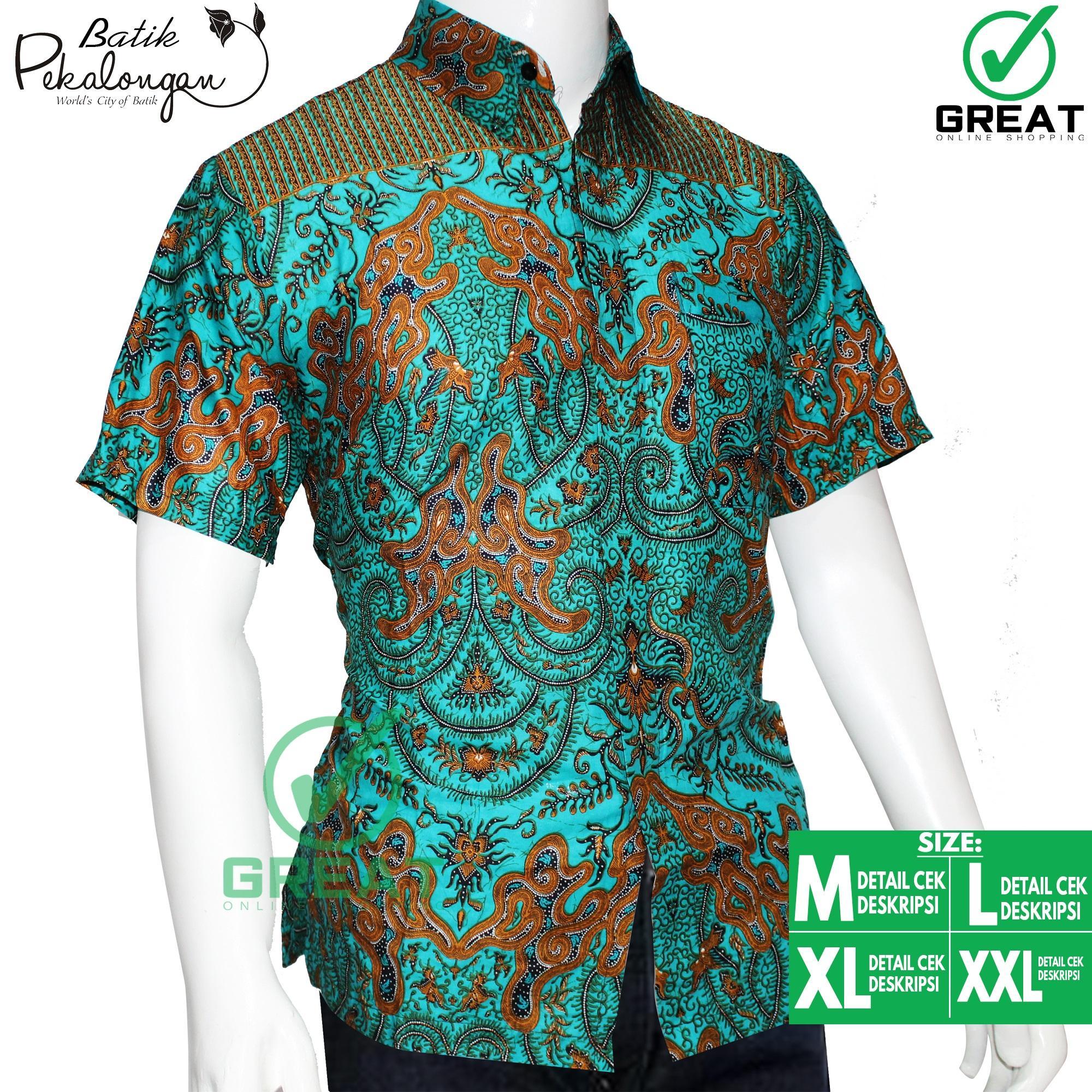 Baju Batik Pria Kemeja Batik Pekalongan Batik Model 041