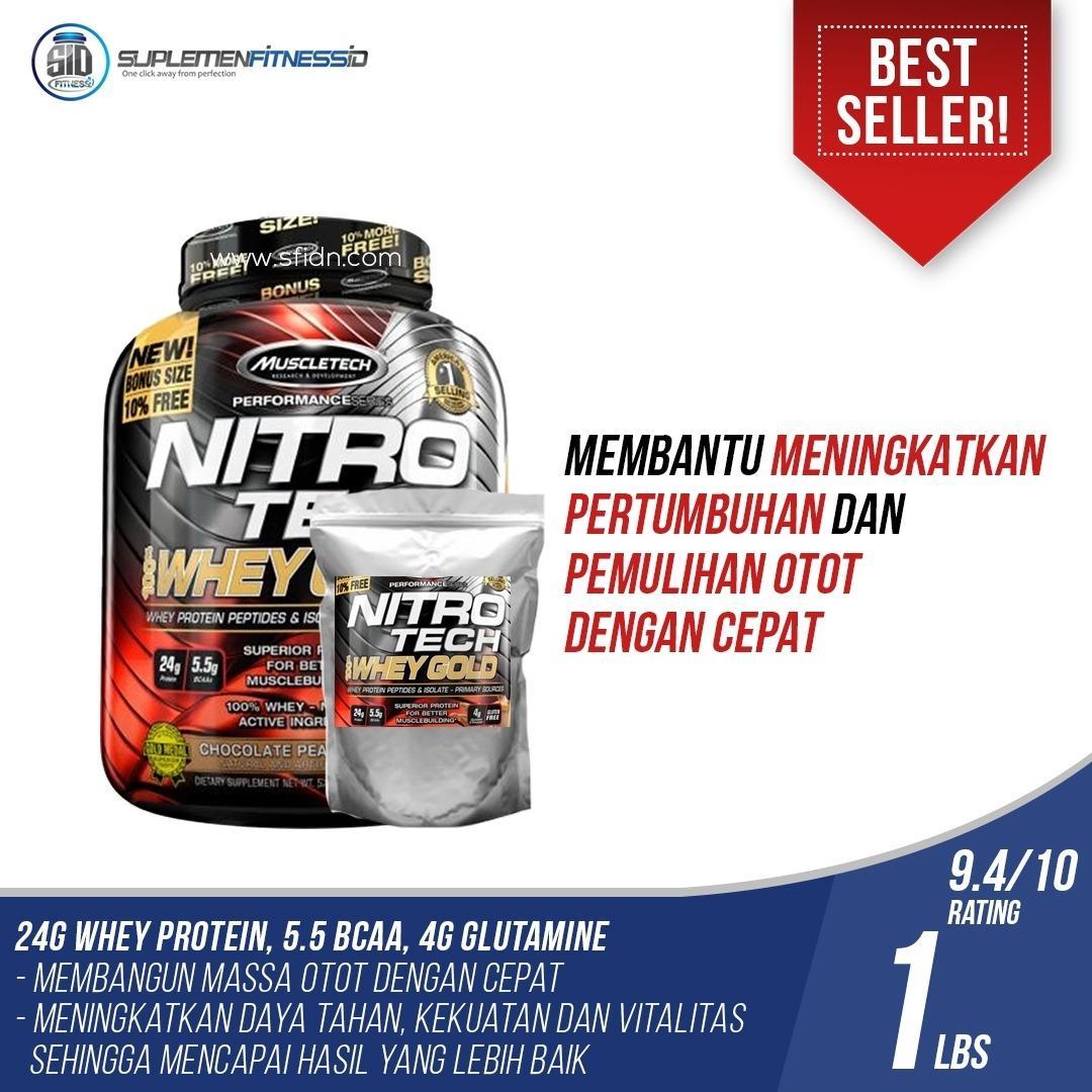 MuscleTech Nitrotech Whey Gold ECERAN 1 Lbs
