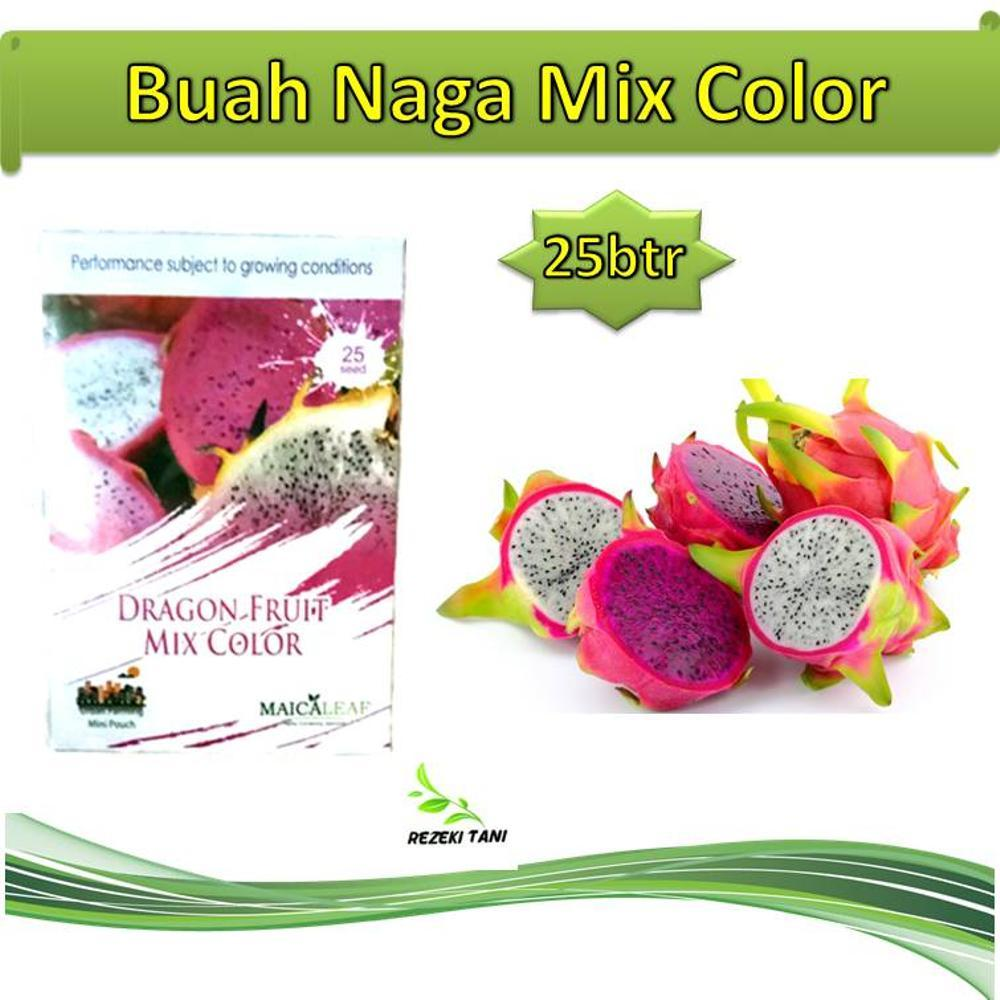 Benih Bibit Buah Naga Dragon Fruit Mix Color 25 Butir