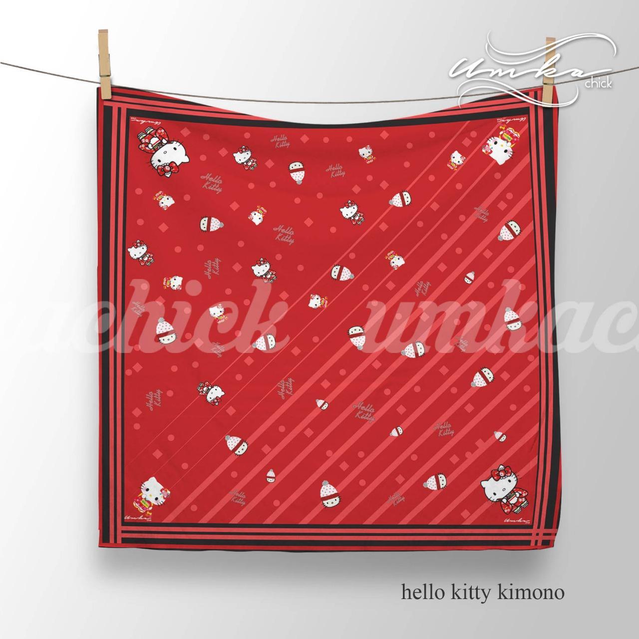 Jual Loz 9408 Gift Large Hello Kitty Kimono Harga Rp 104000 Handuk Hijab Kerudung Segi Empat Voal