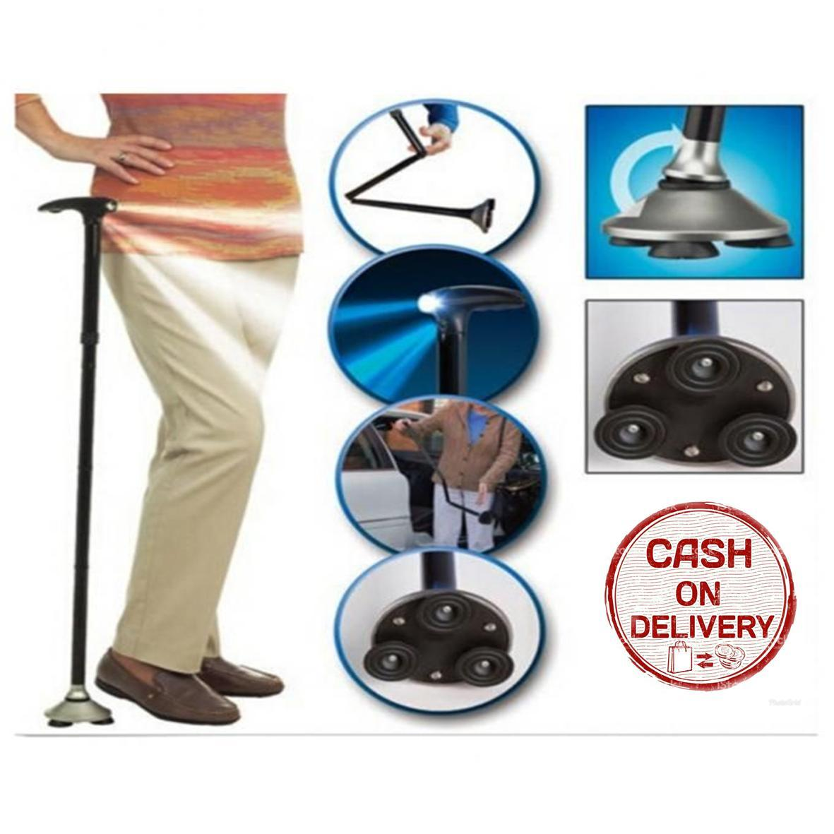 Sien Collection Tongkat Bantu Jalan Manula / Folding Magic Wand / Trusty Cane / Alat Bantu Jalan Orang Sakit / Alat Bantu Jalan Murah / Tongkat Lipat / Magic Cane With Led Light