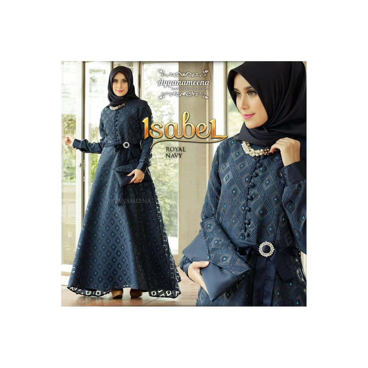 ISABELE SET ROYAL NAVY [GAMIS JILBAB] BY AYYANAMENA