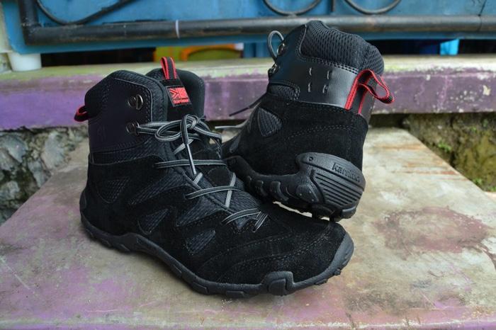 Sepatu Karrimor gunung tracking hiking cowo hitam murah /snta /salomon