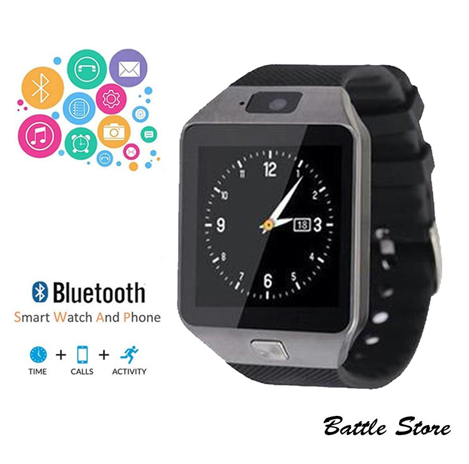 Smartwatch U9 - Smart Watch DZ09 Support Sim Card & Memory Card - Jam Tangan Android - Black