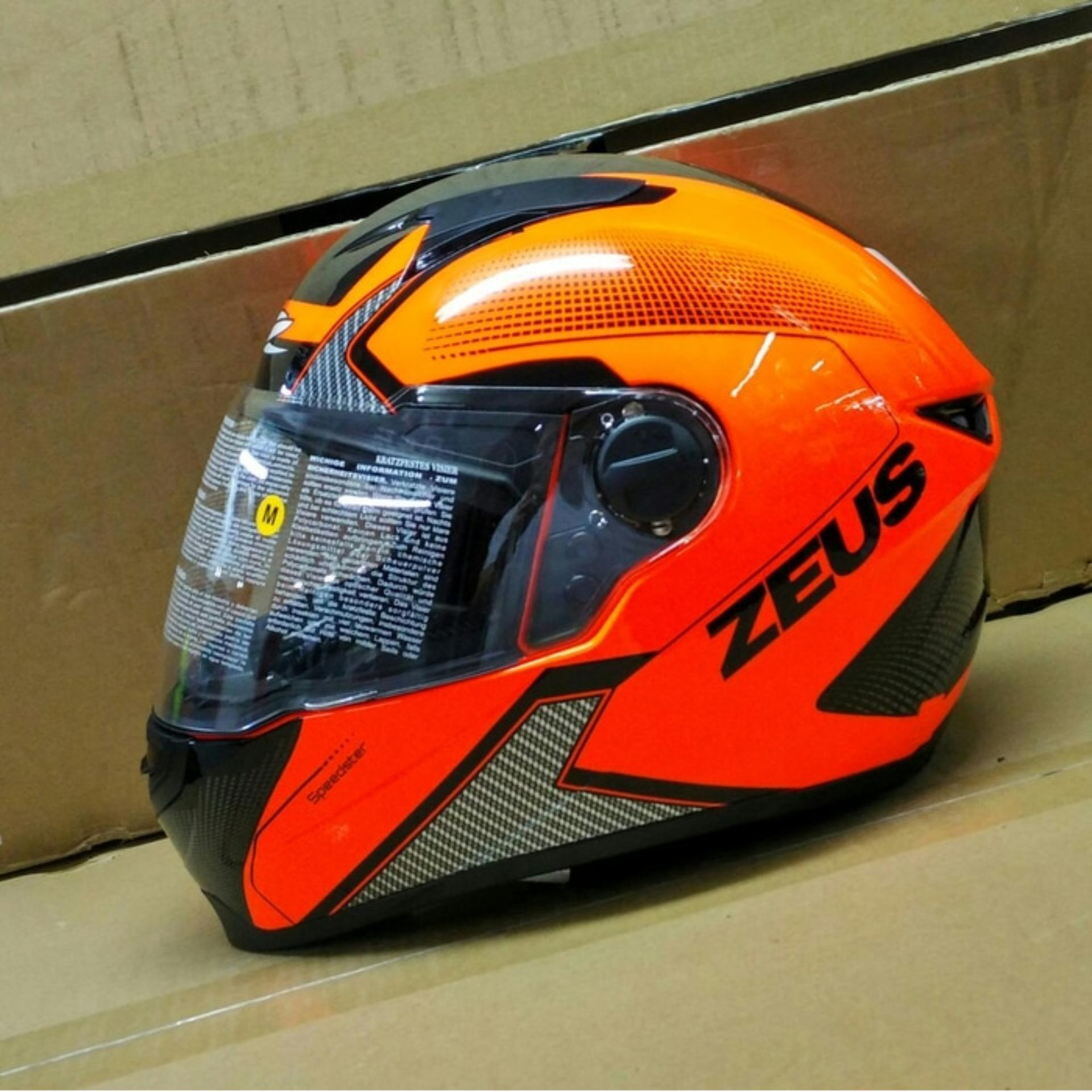 Informasi Harga Helm Zeus Z811 Termurah 2018 Murah Berkualitas Zs811 Black Al12 Red Al6 Neon Orange Full Face Free Dark Visor