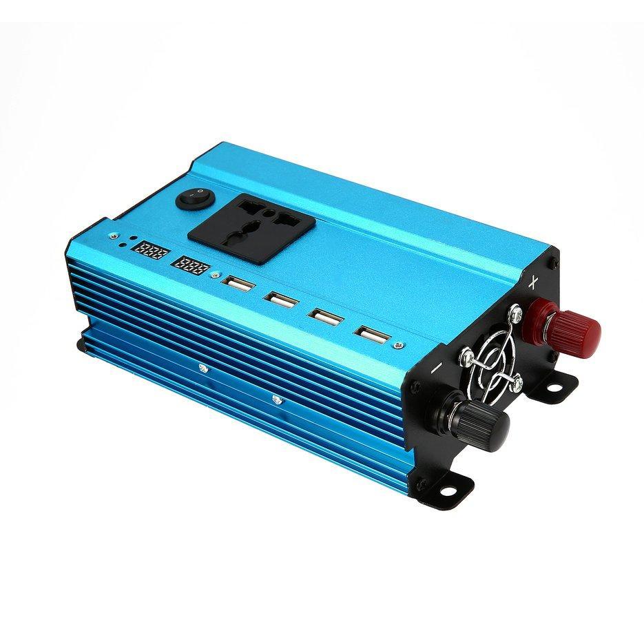 Wond Profesional 3000 W Pengalih Daya DC Ke AC Rumah Kipas Pendingin Pengonversi Mobil Biru DC 12 V untuk AC 220 V