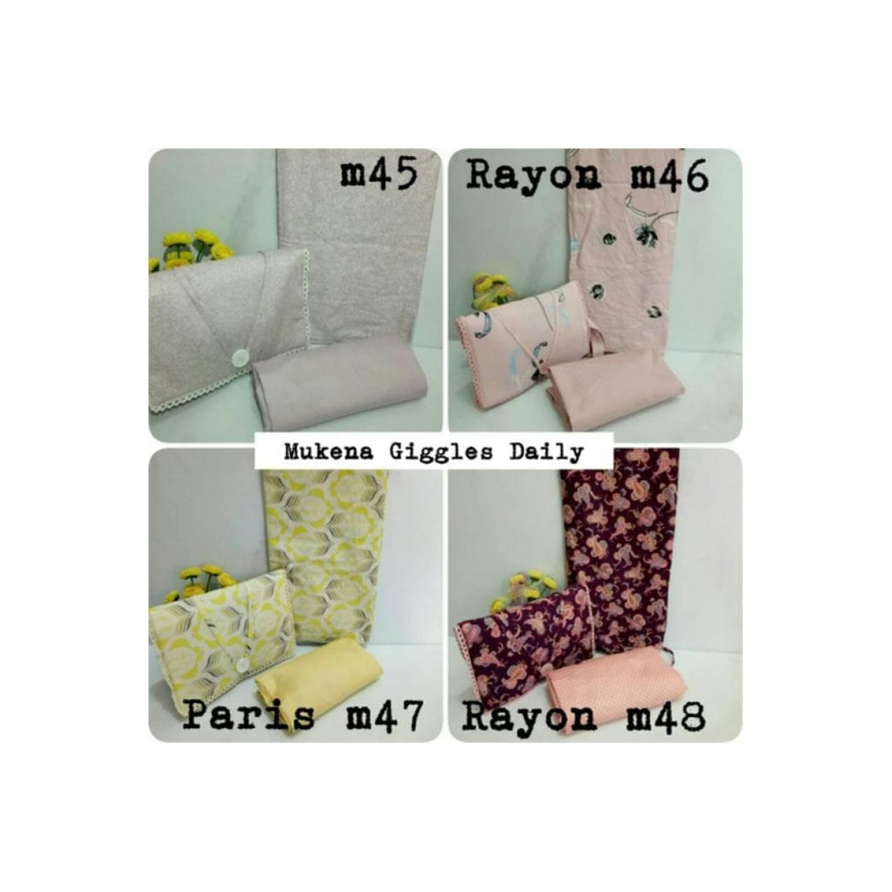 Mukena Giggles Daily Katun Design By Japan & Katun Rayon