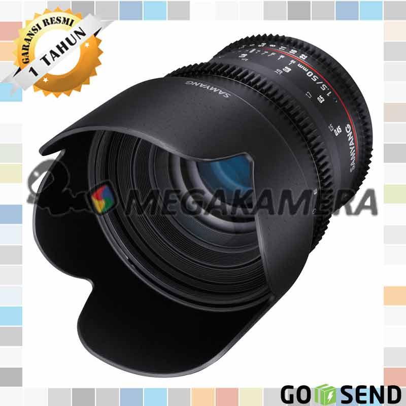 Samyang Lensa 50mm T1.5 VDSLR Cine Lens for Canon EF
