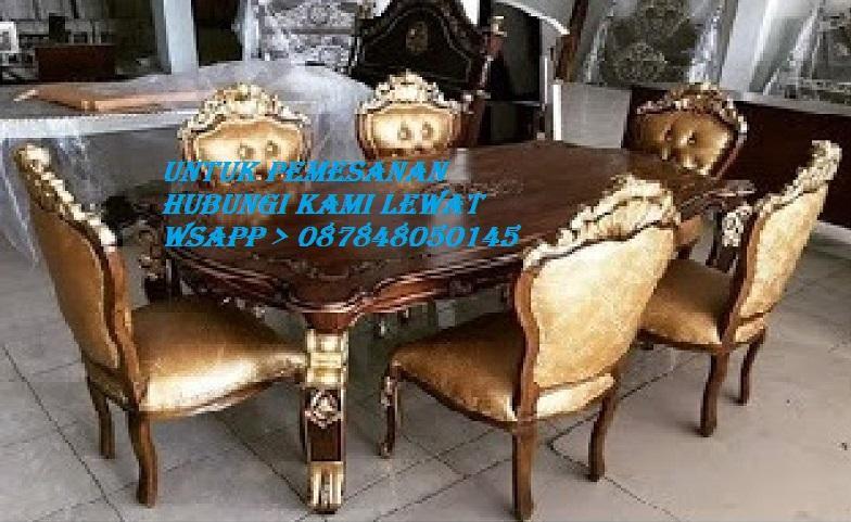 Meja Makan Minimalis Ganesa Emas 6.Kursi Ukir Kayu Jati Jepara Jika Berminat Hubungi Kami Lewat Wsapp_O87848050145_Kami