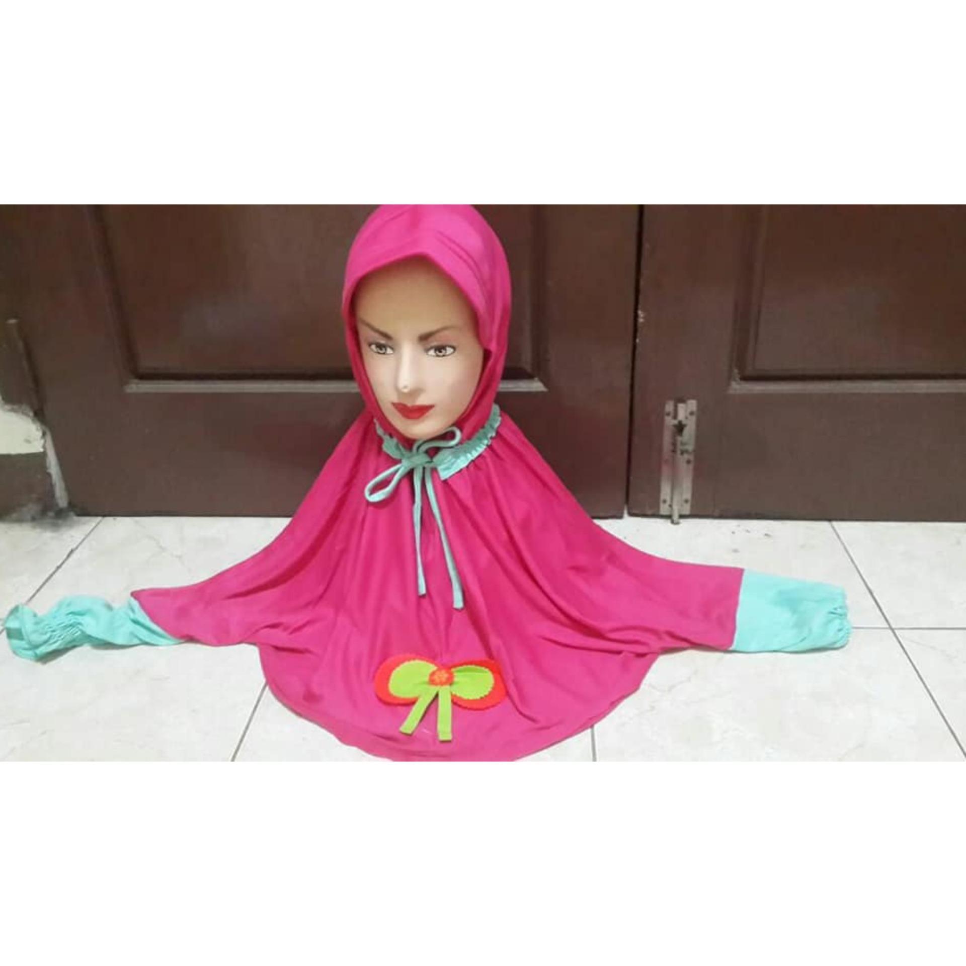 jilbab  instan anak unik dengan lengan panjang