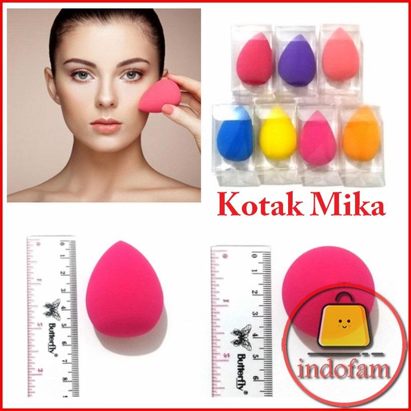 IF [ BIG SIZE KOTAK MIKA ] Sponge Blender Egg Spons Spon Muka / Telur / Telor / Tear Drop / Make Up / Wajah / Facial / Dandan / Blending Puff / Pnuff / BB Cream Bedak Kering Cair Basah Foundation Makeup Beauty Set
