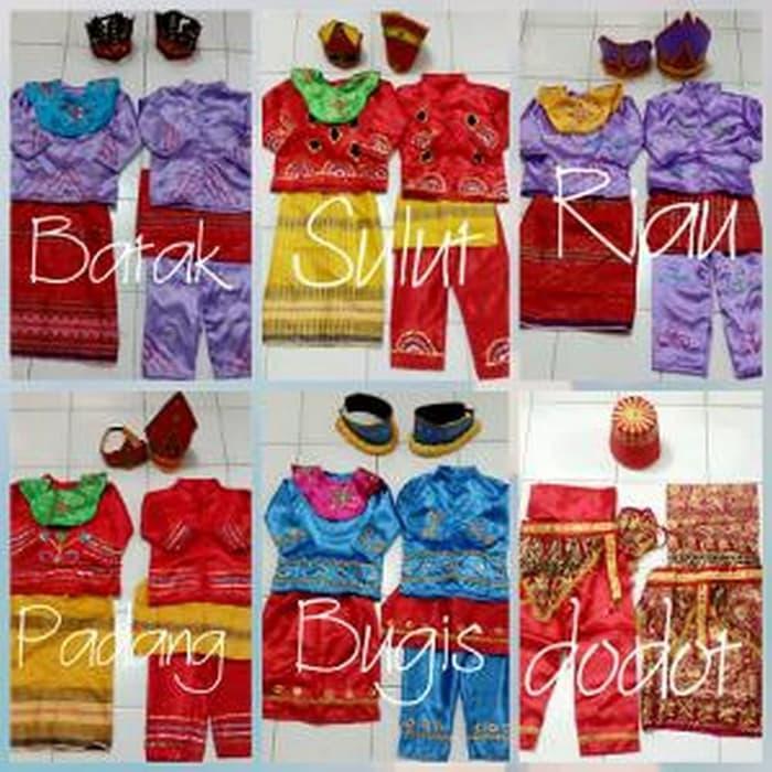 Sedang Diskon!! Baju Adat Anak Tk Nusantara Karnaval Berkualitas - ready stock