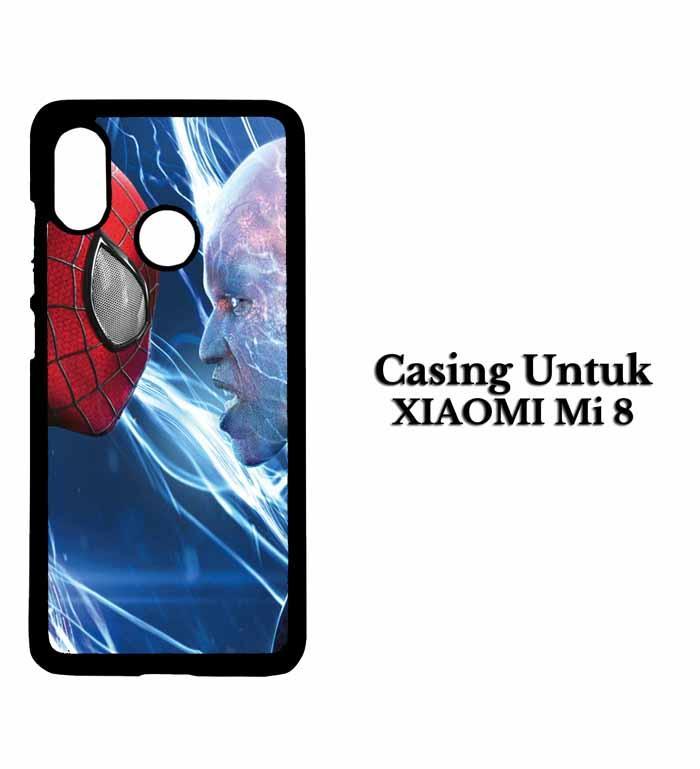 Casing XIAOMI MI 8 Spiderman to head Hardcase Custom Case Snitchshop