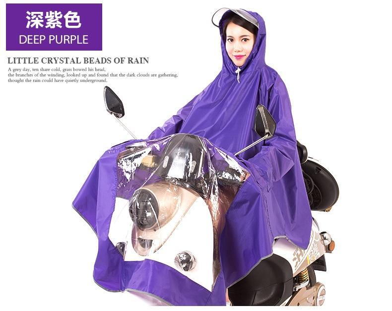 Bercahaya Lapisan Ganda Penahan Angin Topi Lebar Dewasa Mobil Listrik Jas Hujan (Bercahaya Pinggiran Topi