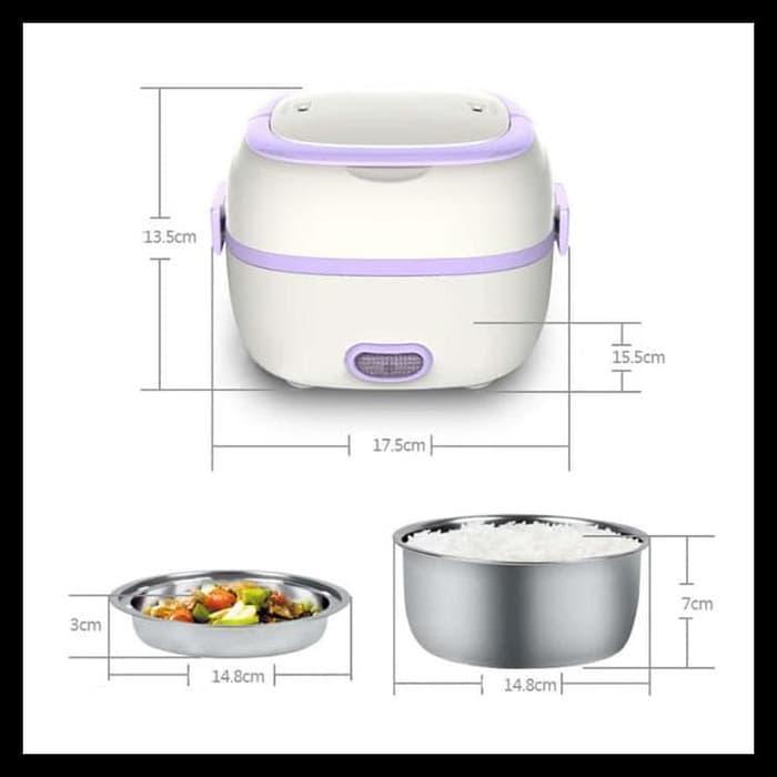 Starhome Rice Cooker Mini 2 Susun Kapasitas 1 L - Penanak Nasi Mini -