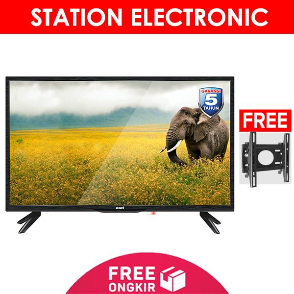 Akari 32V90 HD Ready USB Movie LED TV 32 Inch - Free Bracket - Khusus Jabodetabek