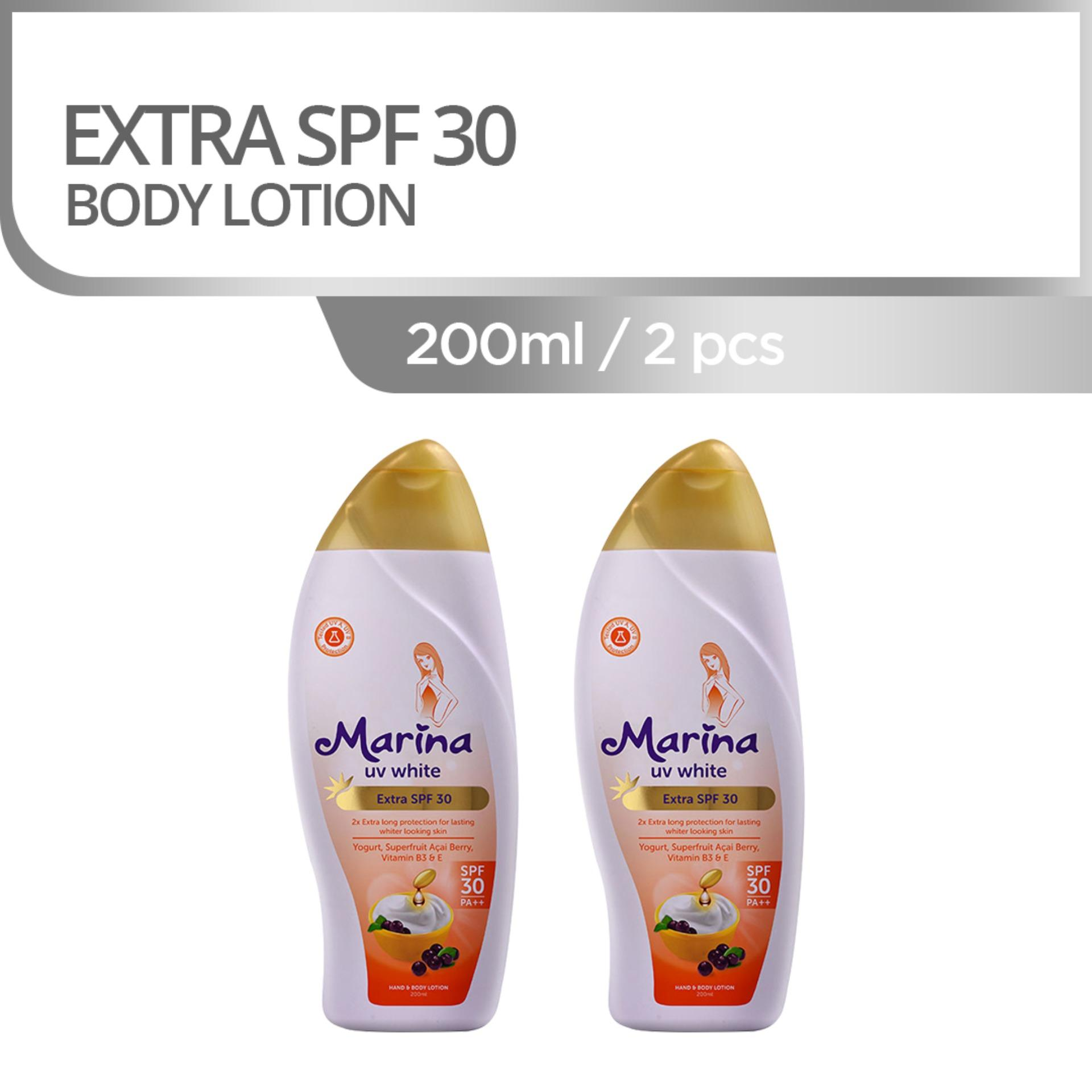 Marina UV White Extra SPF30 Hand and Body Lotion [200 mL/2 pcs]