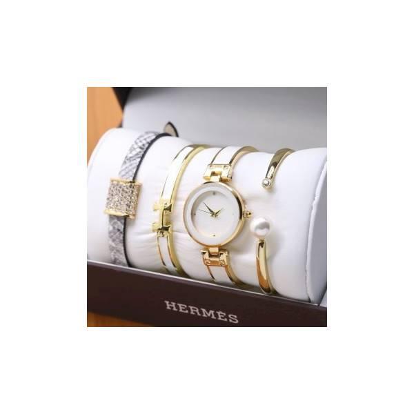 Grosir! HERMES PAKET GELANG WHITE GOLD