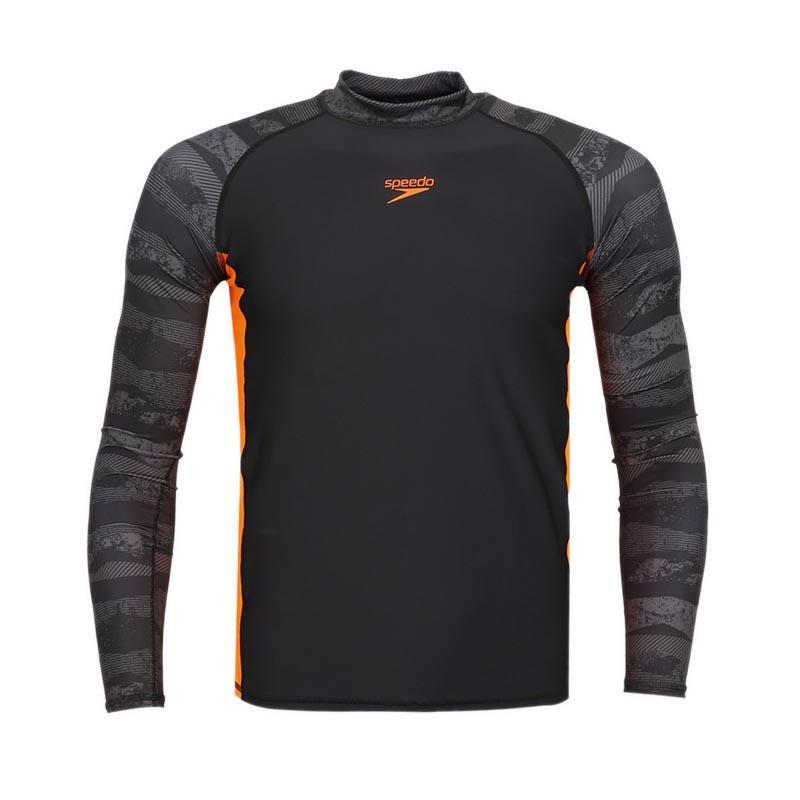 Speedo - Rash Guards Lengan Panjang Pria - Hitam By Planet Sports.