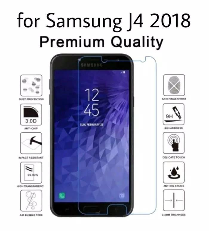 Tempered glass Compatible For Samsung J4 2018 anti gores kaca screen guard