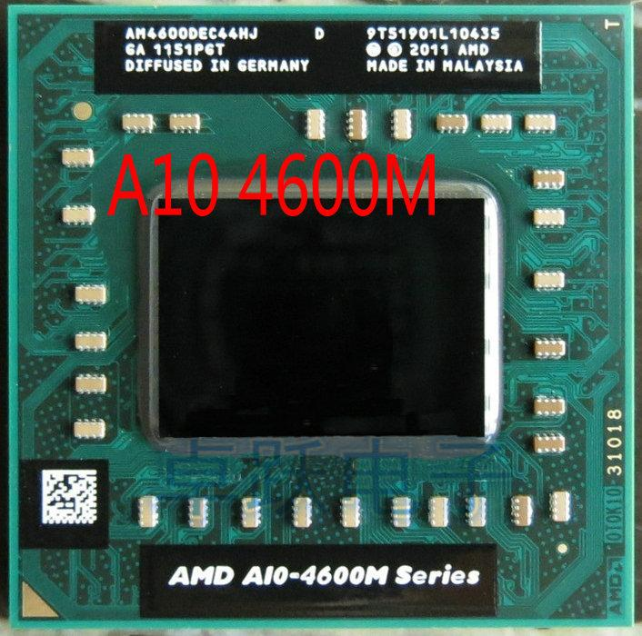 Asli Intel Laptop AMD Ponsel A10 4600 M A10-4600m Asli Socket FS1 CPU 4 M Cache/2.3 GHz/Quad -Core Processor