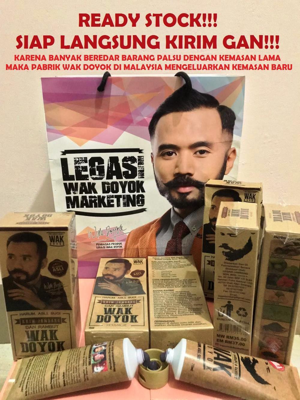 Wak Doyok Krim Jambang 75ml Malaysia Original Cream Wakdoyok ORIGINAL di lapak JeLo Shop jeloshop