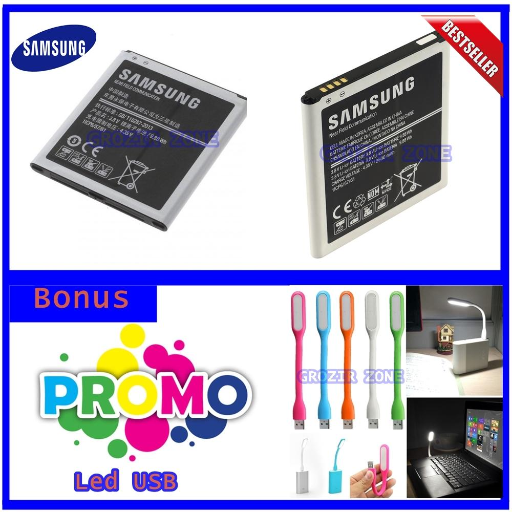 Samsung Baterai / battery original Galaxy J3 - Kapasitas 2600mAh + Gratis Lampu Led Usb ( grosir zone )
