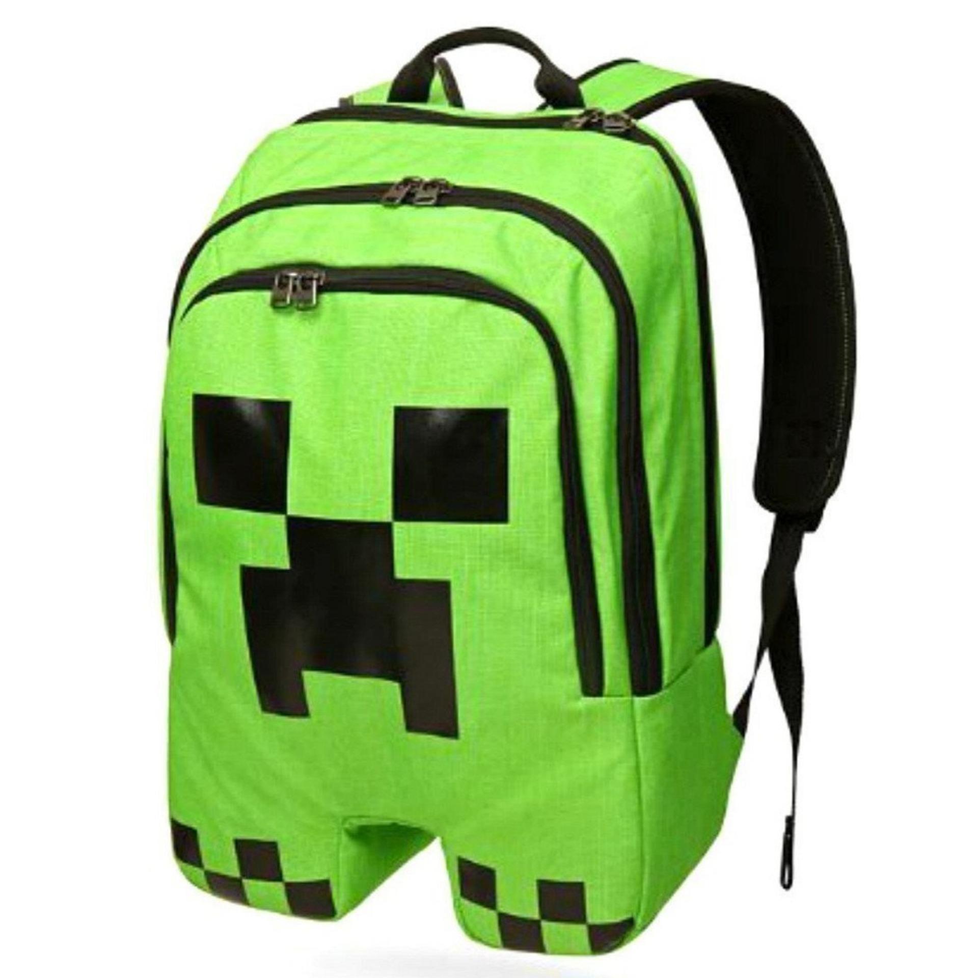 Minecraft Tas Anak Original Figure Creeper Tas Import Minecraft