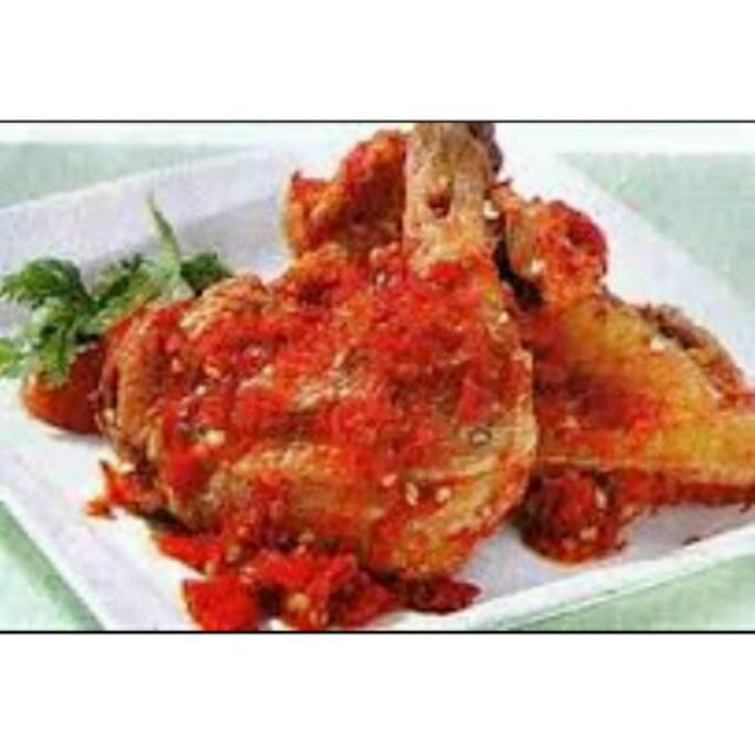 2 potong Ayam Goreng Balado Potong 4 GEDE