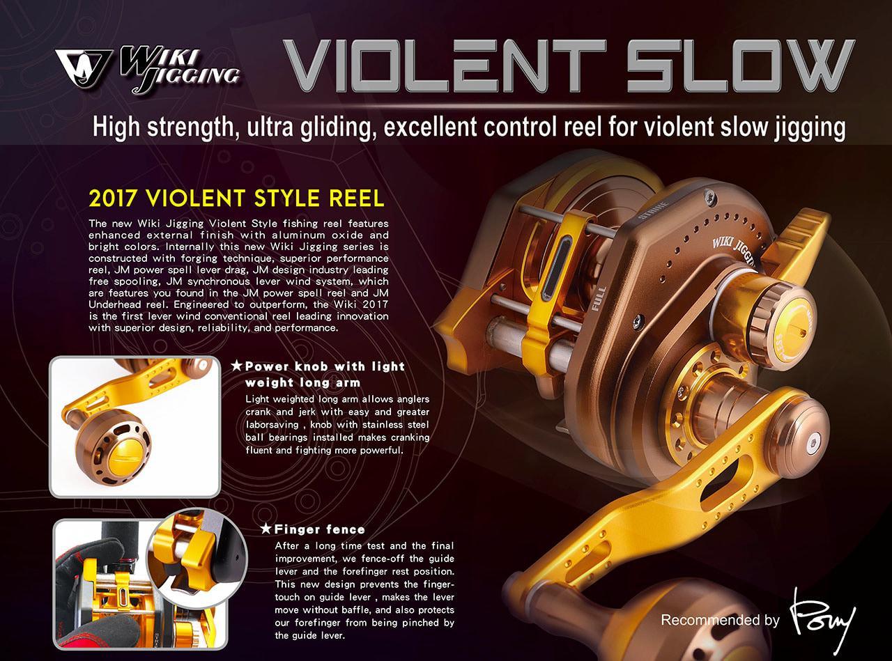Jigging Master VS1500XH Wiki Violent Slow Left Handle-Reel Pancing JM