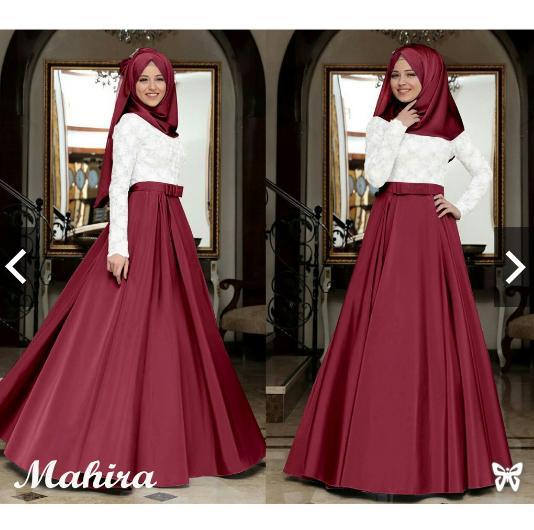 MoslemWear Fashion Busana kondangan muslimah Muslim Wanita - Gamis Pesta Brukat  - Remaja Wisuda - Gaun Pesta Party maxi dress - kebaya pesta Modern hijab jilbab batik ihmahira