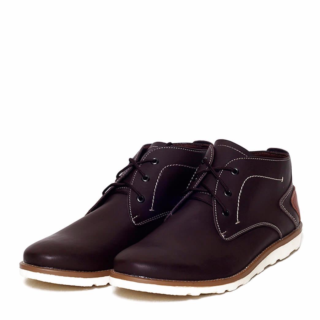 JUAL Sepatu Boot Casual Pria - VESTA BROWN Original