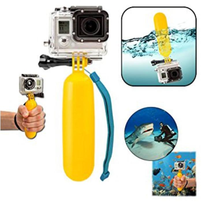 Ready!!! Floating Hand Grip Gopro Hero Xiaomi Yi Sj Action Cam Pelampung Kamera - ready stock