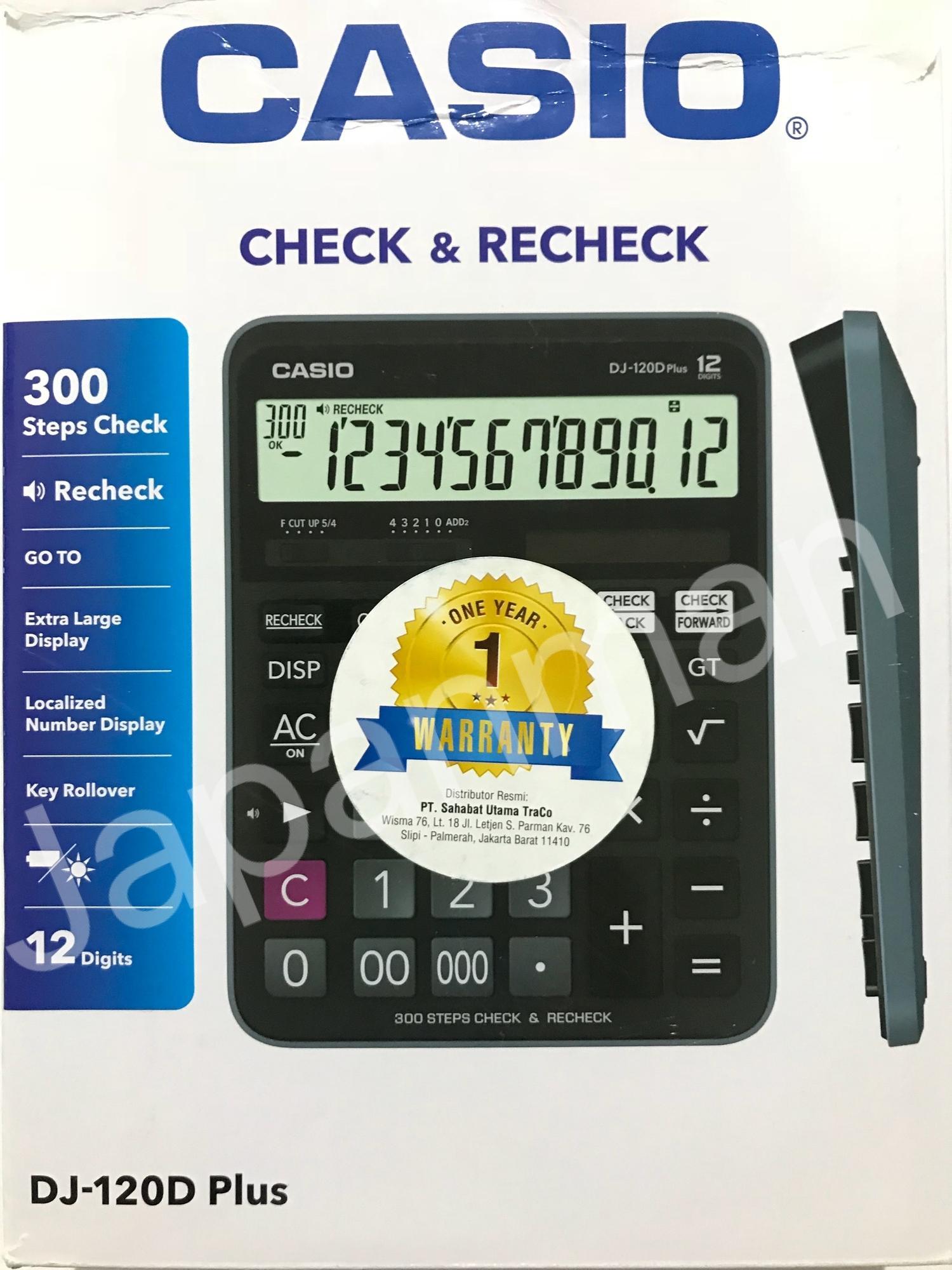Casio Kalkulator DJ 120