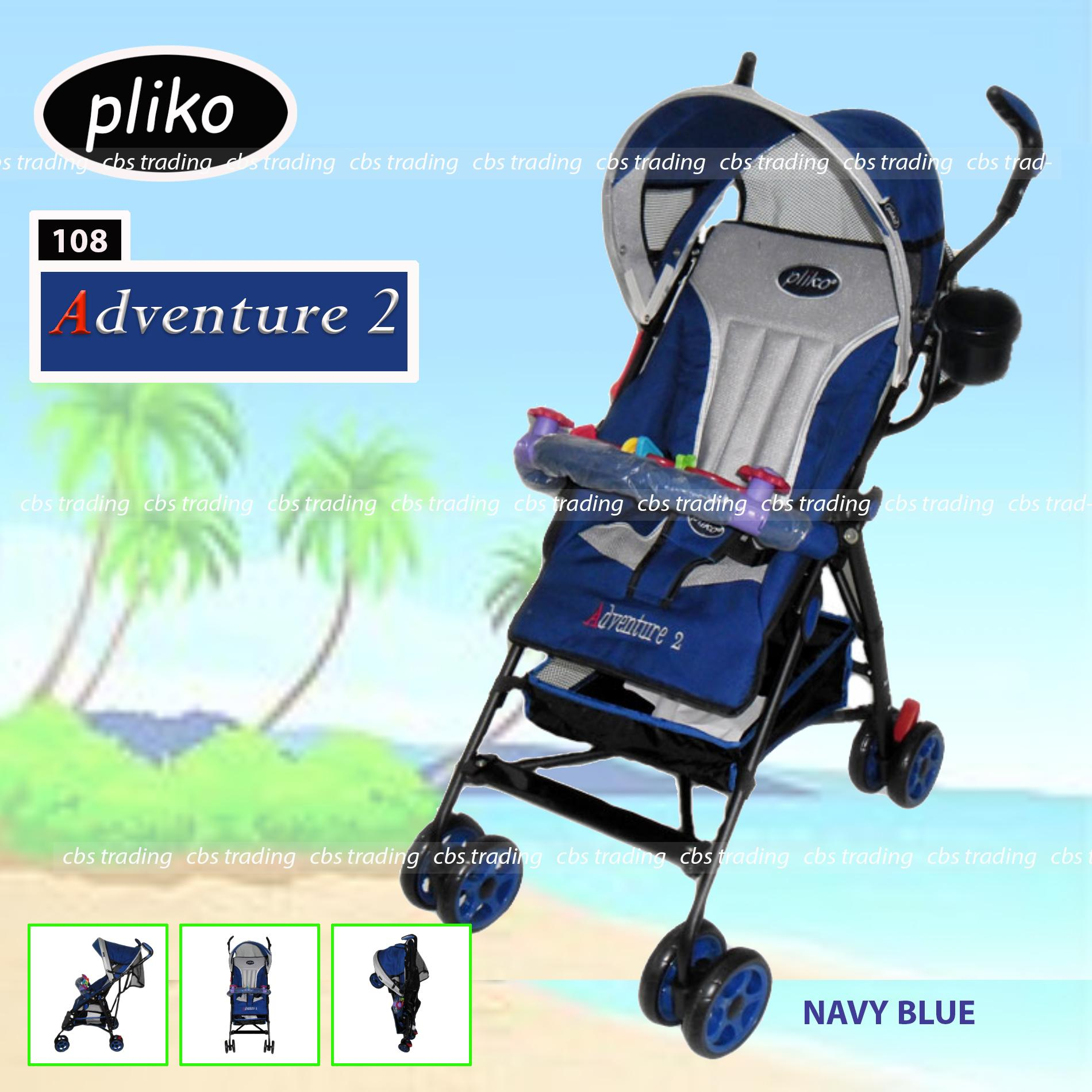 Pliko Stroller New Buggy Adventure 2 S-108 Kereta Dorong Bayi - Navy Blue